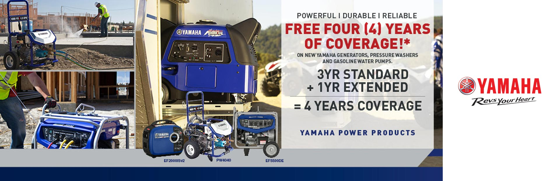 Yamaha: Free One Year Extended Warranty
