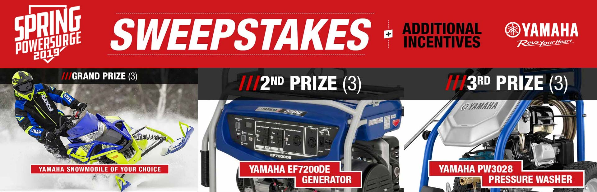Yamaha: Spring Power Surge Sweepstakes
