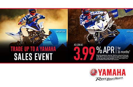 As Low As 3.99% APR For 36 Months (Sport ATV)