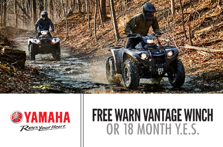 Free Warn Vantage Winch -OR- 18 Month Y.E.S (ATV)