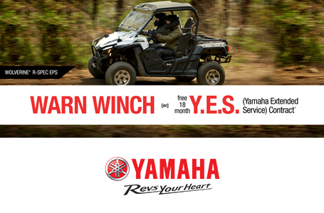 Free Warn Vantage Winch -or- 18 Month Y.E.S. (SxS)