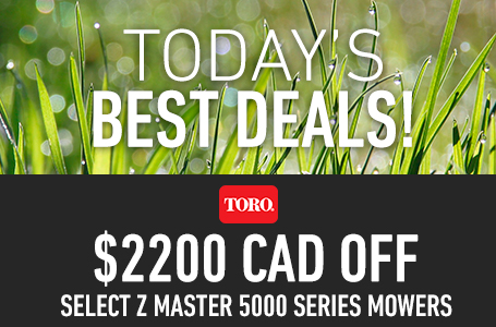 $2200 CAD Off Select Z Master 5000 Series Mowers