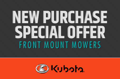 New Purchase Special Offer - Front Mount Mowers