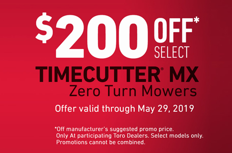 Up To $200 Off Select TimeCutter MX