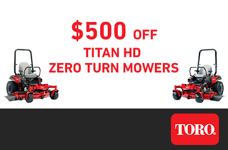 LS - $500 Off TITAN HD Mowers