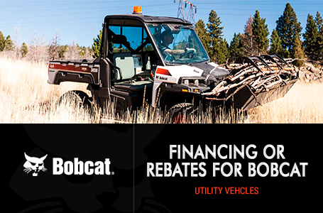 Financing or Rebates for Bobcat Utility Vehicles