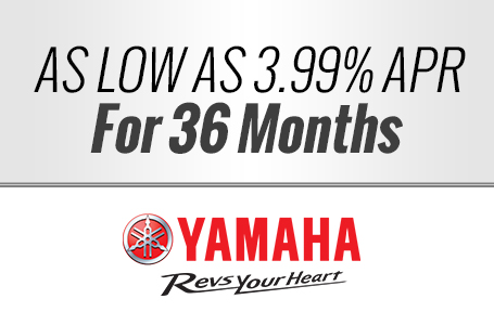 As Low As 3.99% APR For 36 Months