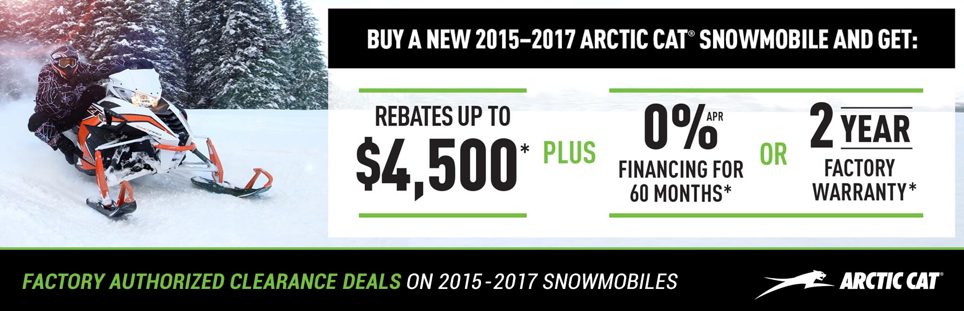 Arctic Cat Factory Authorized Clearance