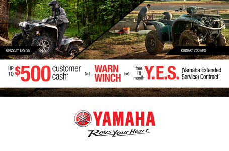 Free Warn Vantage Winch -or- 18 Month Y.E.S. (ATV)