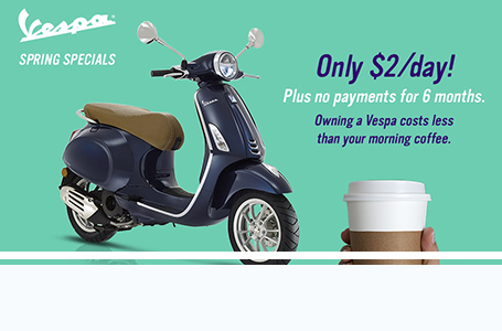 "VESPA USA – APRIL - JUNE ""SPRING DAYS"" 2019"
