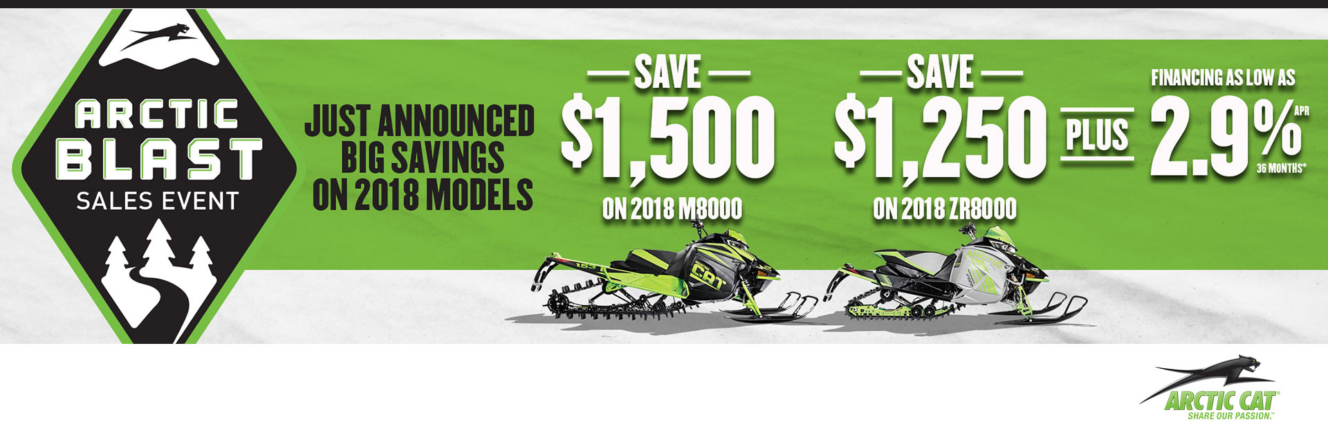 2019,2018 and 2017  Arctic Cat Snowmobiles! Arctic cat blast!Save up to $4,500!