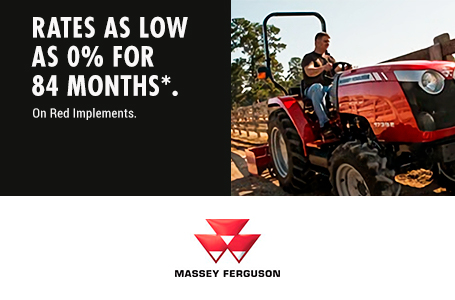 0% for up to 84 Months on Red Implements