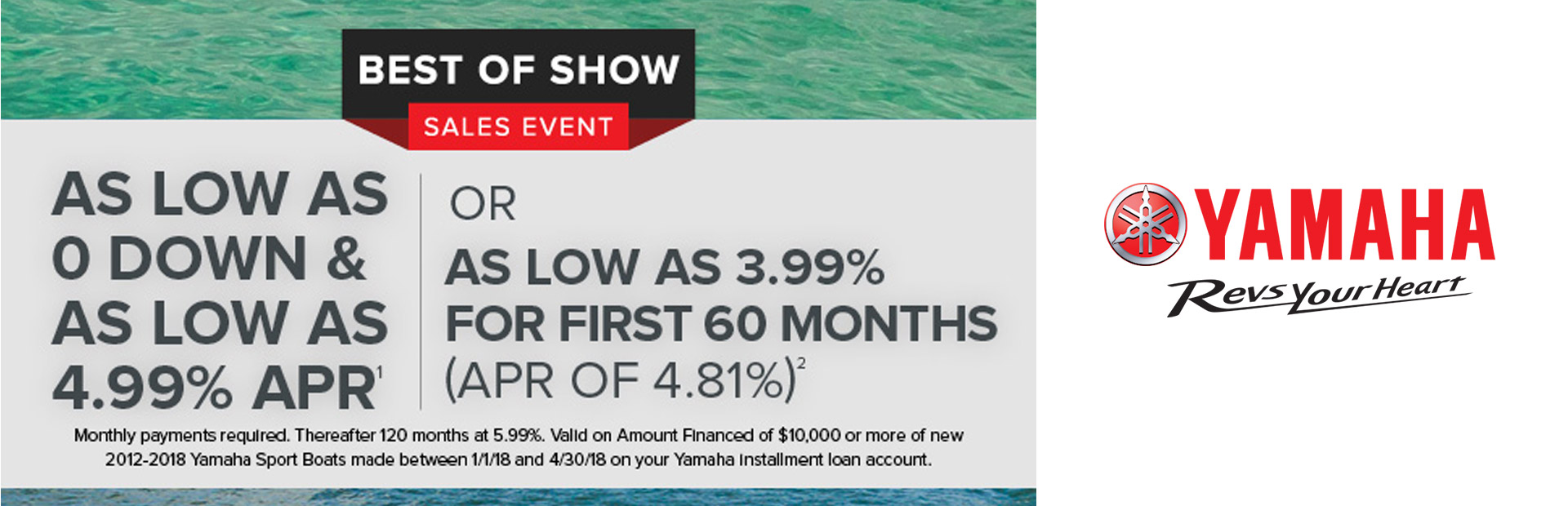 Yamaha: Best of Show Sales Event