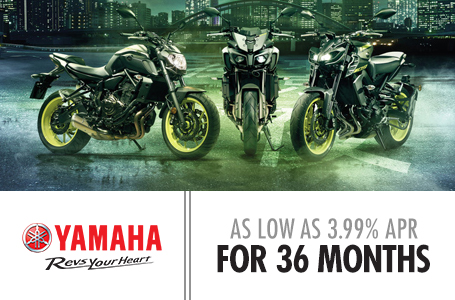 As Low As 3.99% APR For 36 Months (Street Bikes)