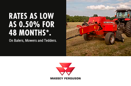 0.50% for 48 Months on Balers, Mowers, Tedders