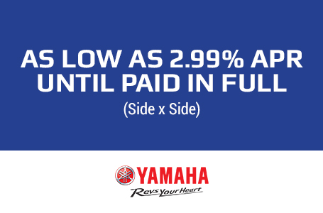 As Low As 2.99% APR Until Paid In Full (SxS)
