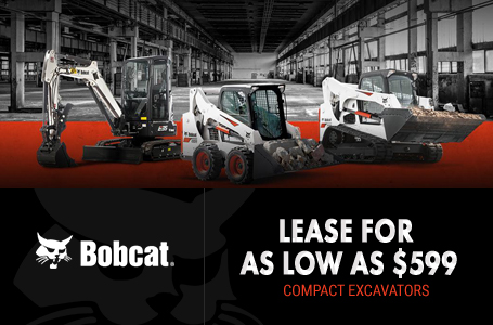 Lease Bobcat Compact Excavators For As Low As $599
