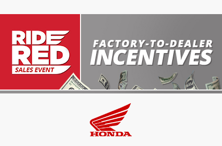 Red Ride Sales Event: Factory-to-Dealer Incentives