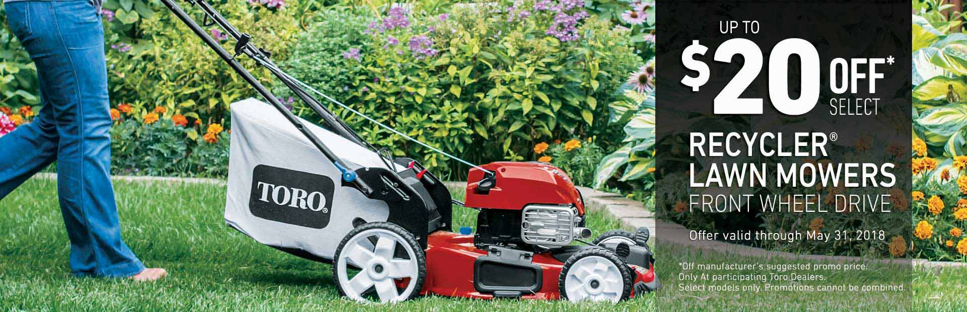 Toro: $20 off Select Recycler FWD Mowers