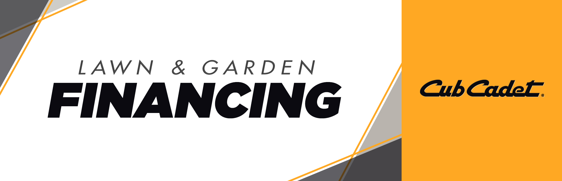 Cub Cadet: Lawn and Garden Financing