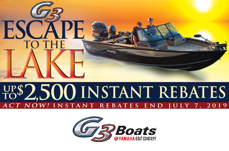 Escape to the Lake Rebates Angler V Series