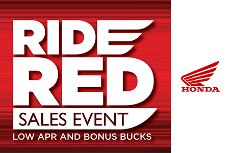 Ride Red Sales Event: Bonus Bucks