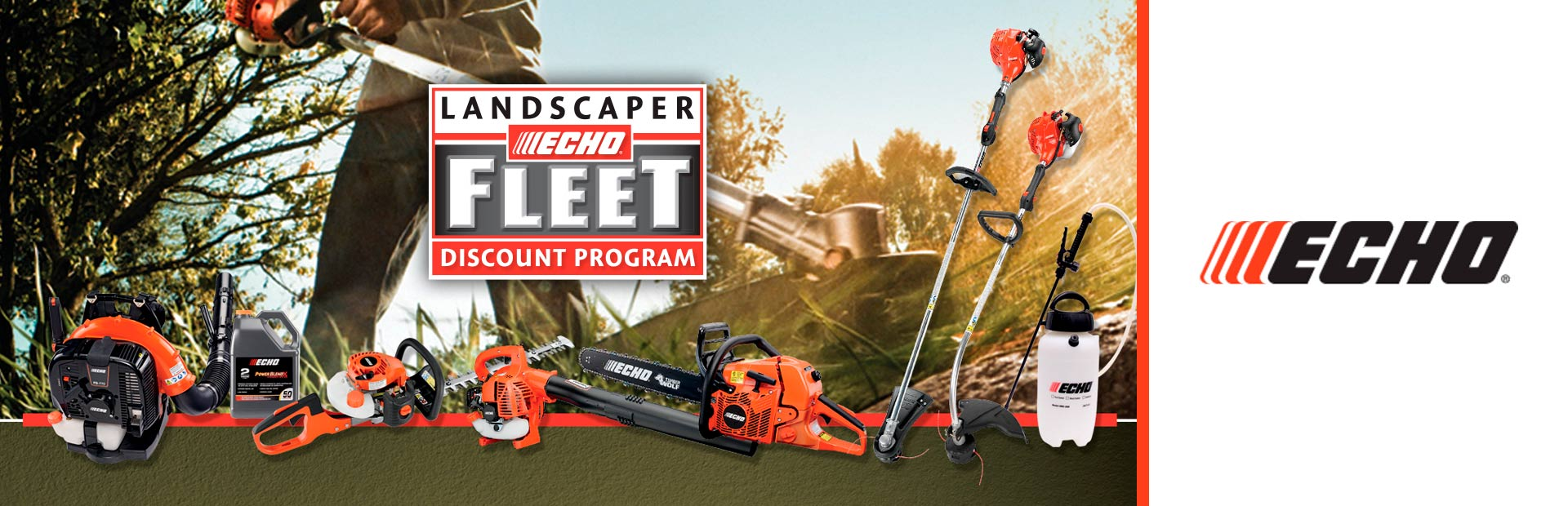 Landscaper Echo Freet Discount Program