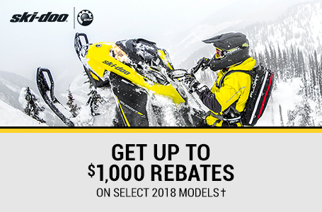 Get Up To $1,000 Rebates On Select 2018 Models