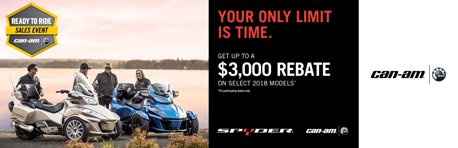 Can-Am: Ready to Ride Sales Event (Spyder) - 1.9% for 60mo