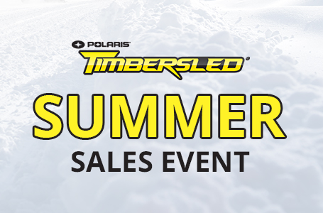Timbersled Summer Sales Event