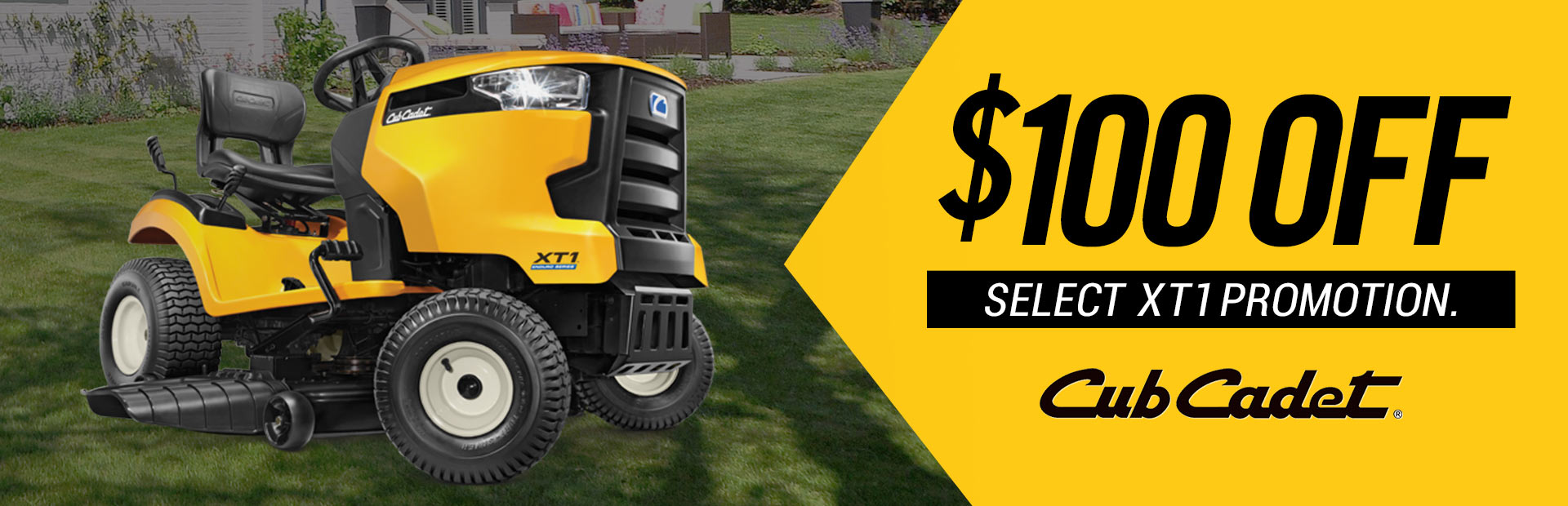 Cub Cadet: $100 Off Select XT1 Promotion