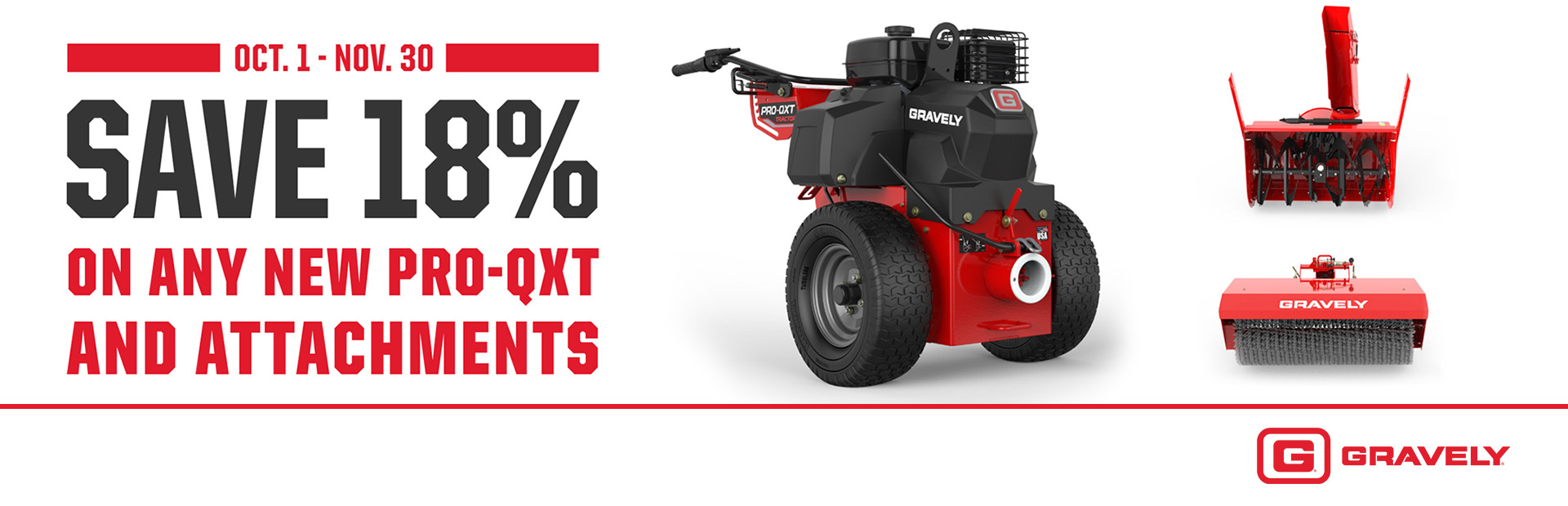 Save 18% On Any New Pro-QXT And Attachments