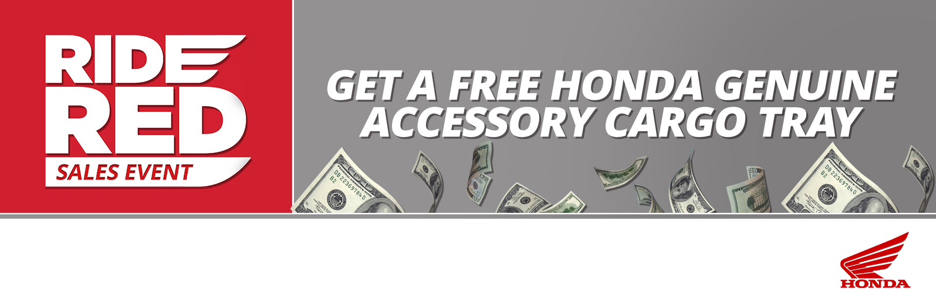 Get a Free Honda Genuine Accessory Cargo Tray