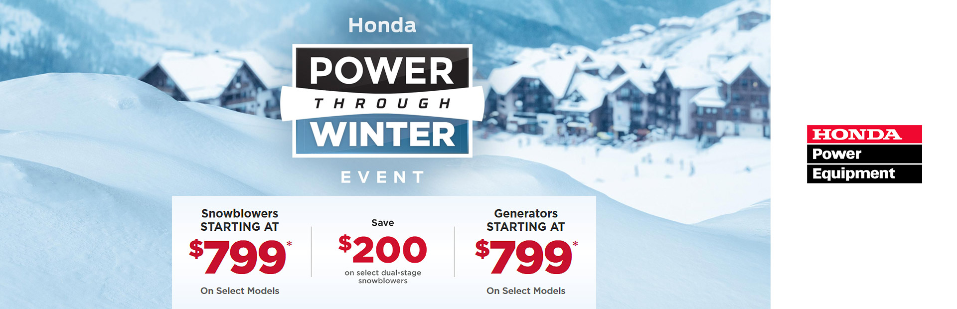 Honda Power Through Winter Event
