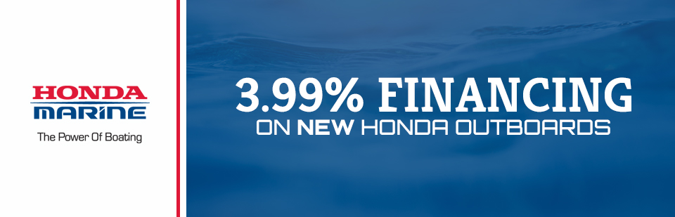 3.99% Financing on New Honda Outboards