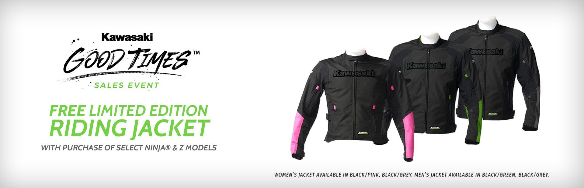 Free Riding Jacket with Select Ninja® & Z Models