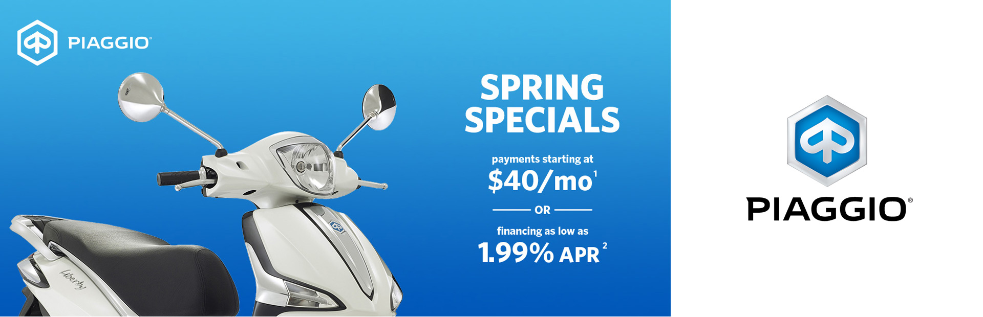 Spring Specials from Piaggio