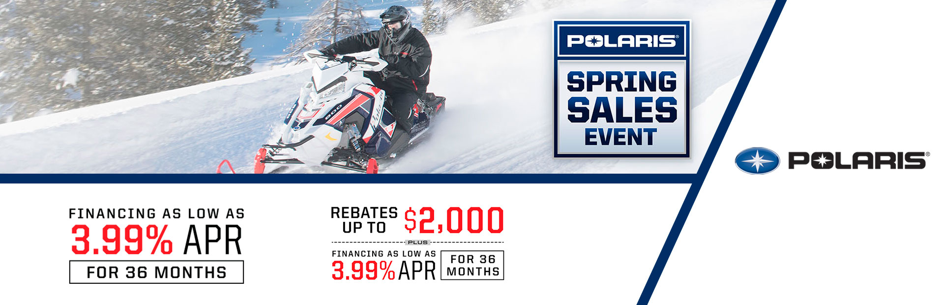 Polaris Snowmobiles Spring Sales Event