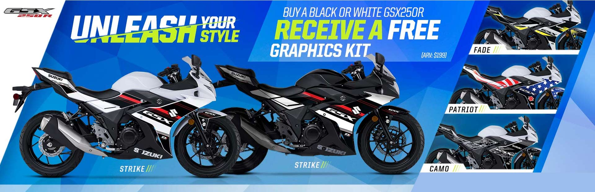GSX250R Graphics Kit Promotion