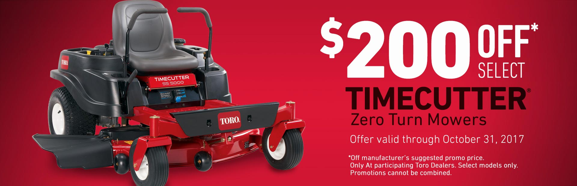 $200 Off Select TimeCutter SS5000 Mowers