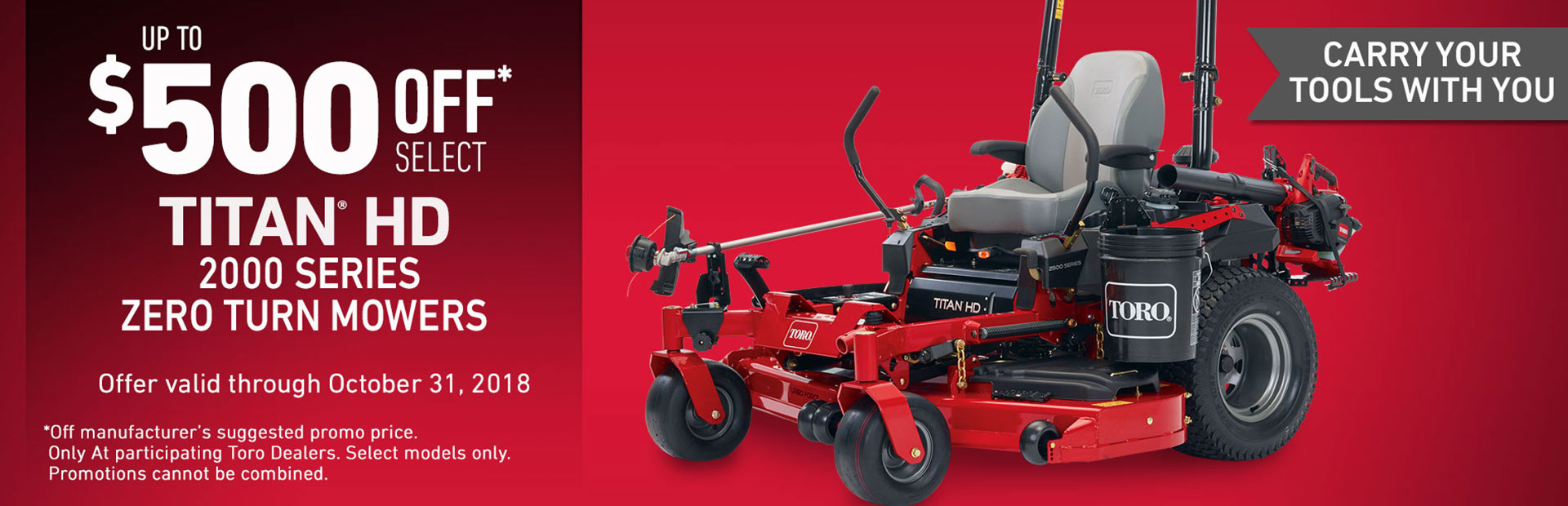 $500 USD Off 2017 TITAN® HD 2000 Series Mowers