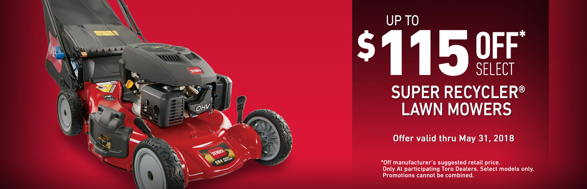 Toro: $115 off Select Super Recycler Mowers