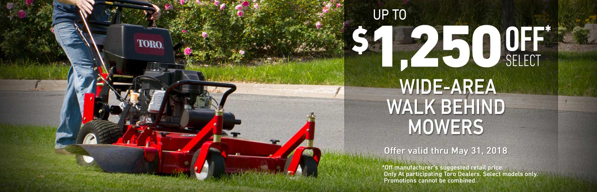 Toro: $1250 off MSRP on Mid-Size Fixed & Floating Deck