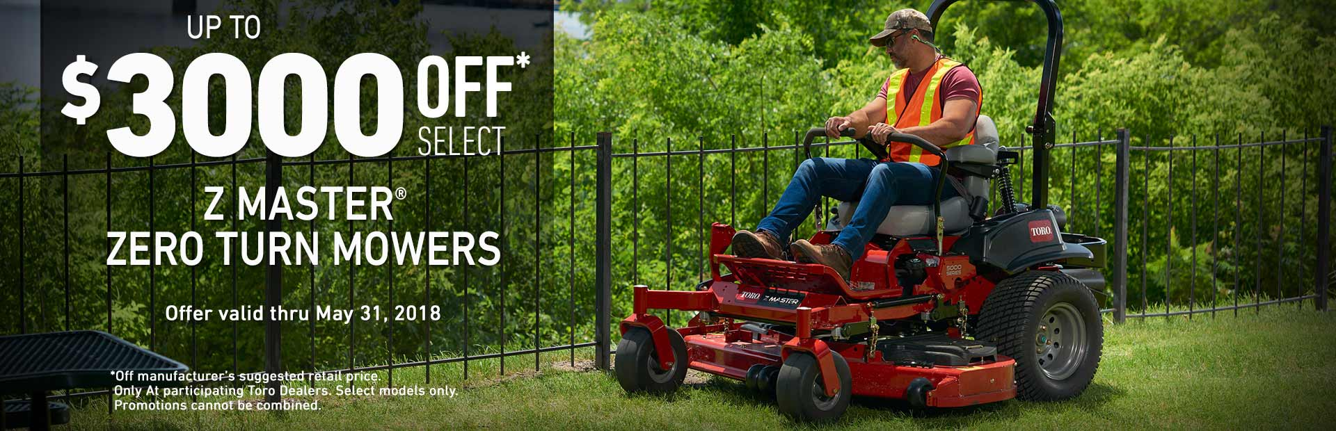 Toro: Up to $3000 off MSRP on Z Master