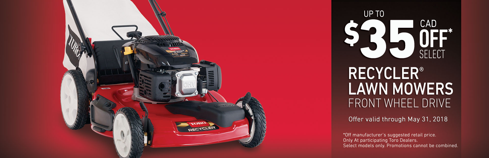 Toro: $35 off Models 20370 & 20377 Recycler FWD Mowers