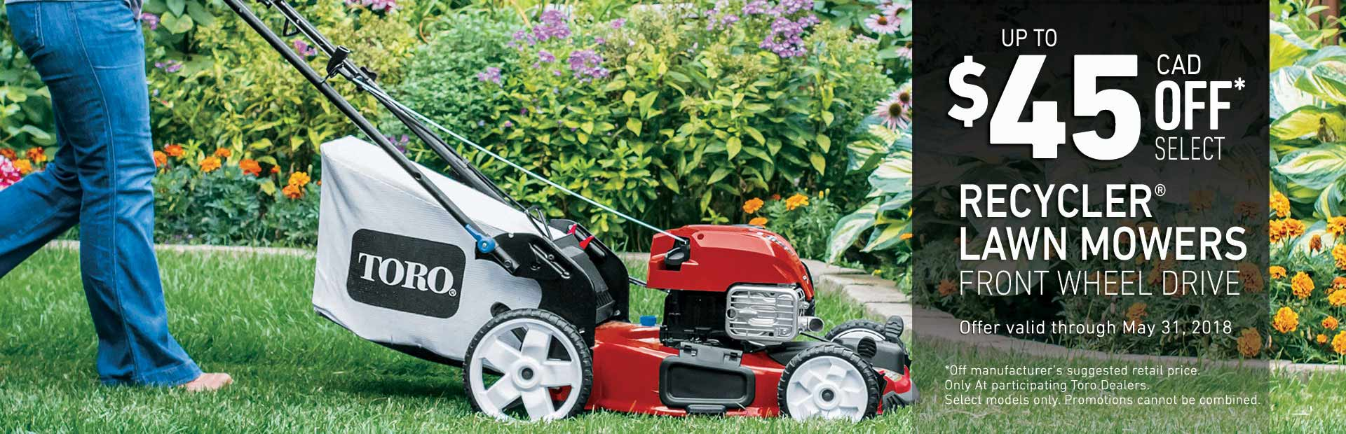 Toro: $45 off Select Recycler FWD Mowers