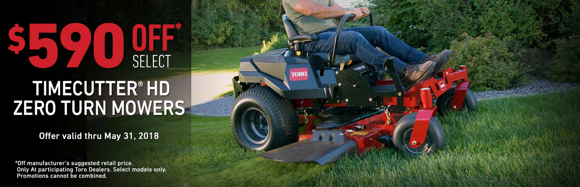 Toro: $590 MSRP off TimeCutter HD