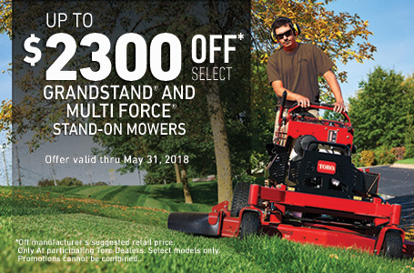 $2300 off MSRP on GrandStand