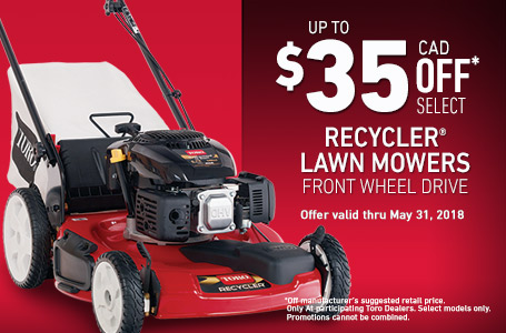 $35 off Models 20370 & 20377 Recycler FWD Mowers