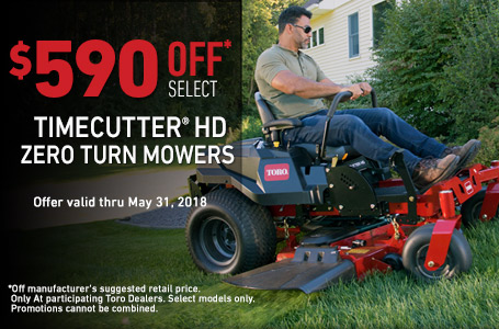 $590 MSRP off TimeCutter HD